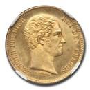 1848 Belgium Gold 25 Francs Leopold I MS-65+ NGC