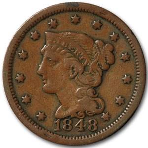 1848 Large Cent Fine