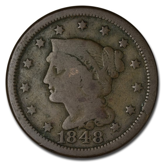 1848 Large Cent Good