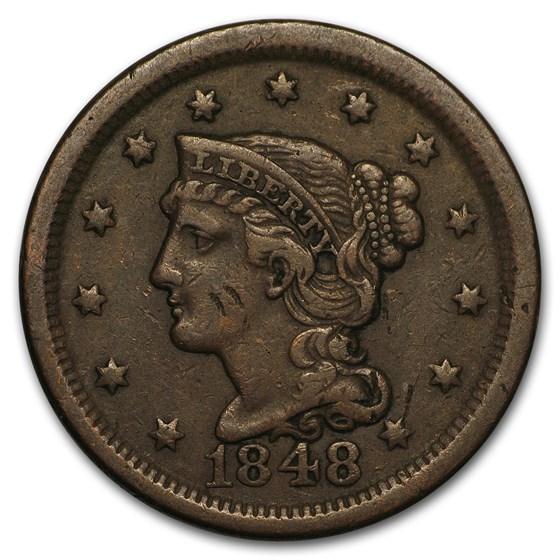 1848 Large Cent VF