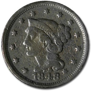 1848 Large Cent VG