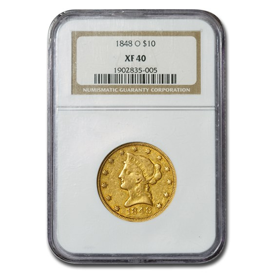 1848-O $10 Liberty Gold Eagle XF-40 NGC