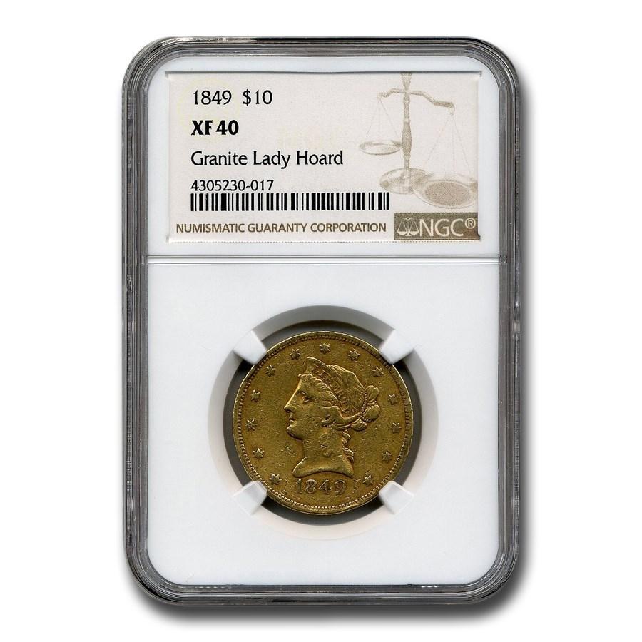 1849 $10 Liberty Gold Eagle XF-40 NGC