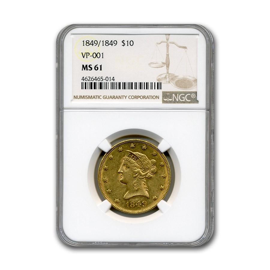 1849/1849 $10 Liberty Gold Eagle MS-61 NGC (VP-001)