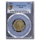 1849 $5 Moffat & Co. Liberty Gold Half Eagle AU-55 PCGS