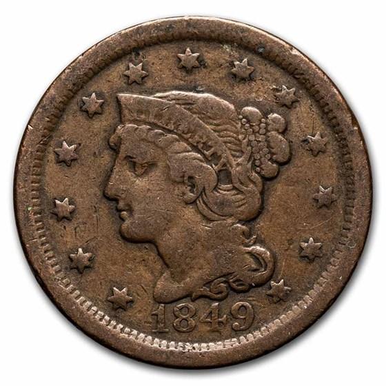 1849 Large Cent Fine