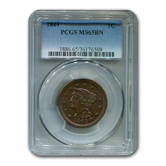 1849 Large Cent MS-65 PCGS (Brown)