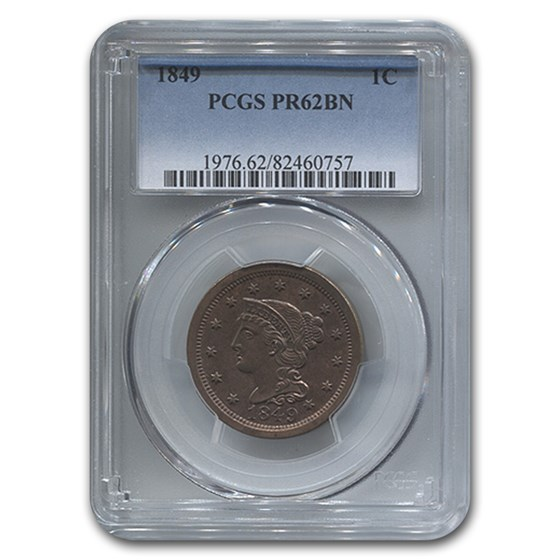 1849 Large Cent PR-62 PCGS (Brown)