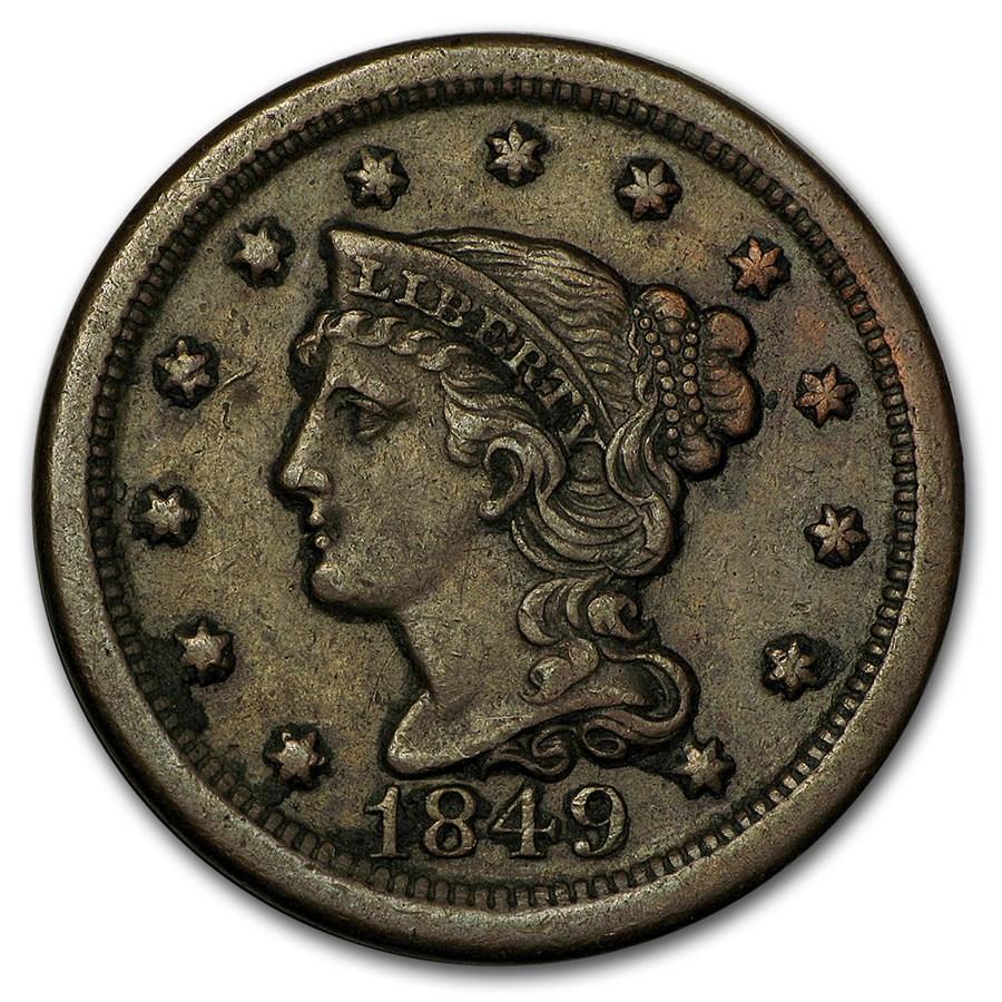 1849 Large Cent VF