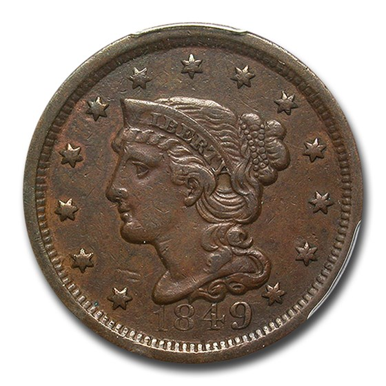 1849 Large Cent XF-40 PCGS