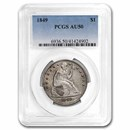 1849 Liberty Seated Dollar AU-50 PCGS