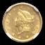 1849-O $1 Liberty Head Gold MS-62+ NGC