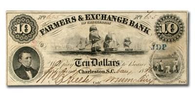 185 Farmers & Exchange Bank of Charleston,SC $10 SC-15, VF