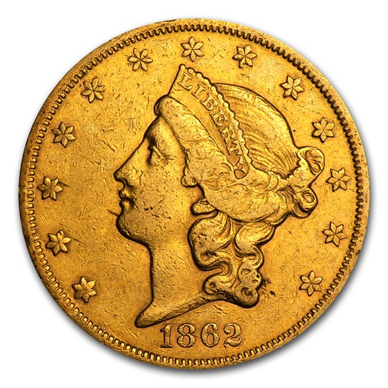 1850-1866 $20 Liberty Gold Double Eagle Type 1 XF