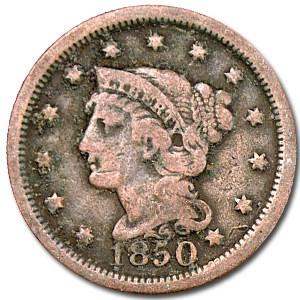 1850 Large Cent Good