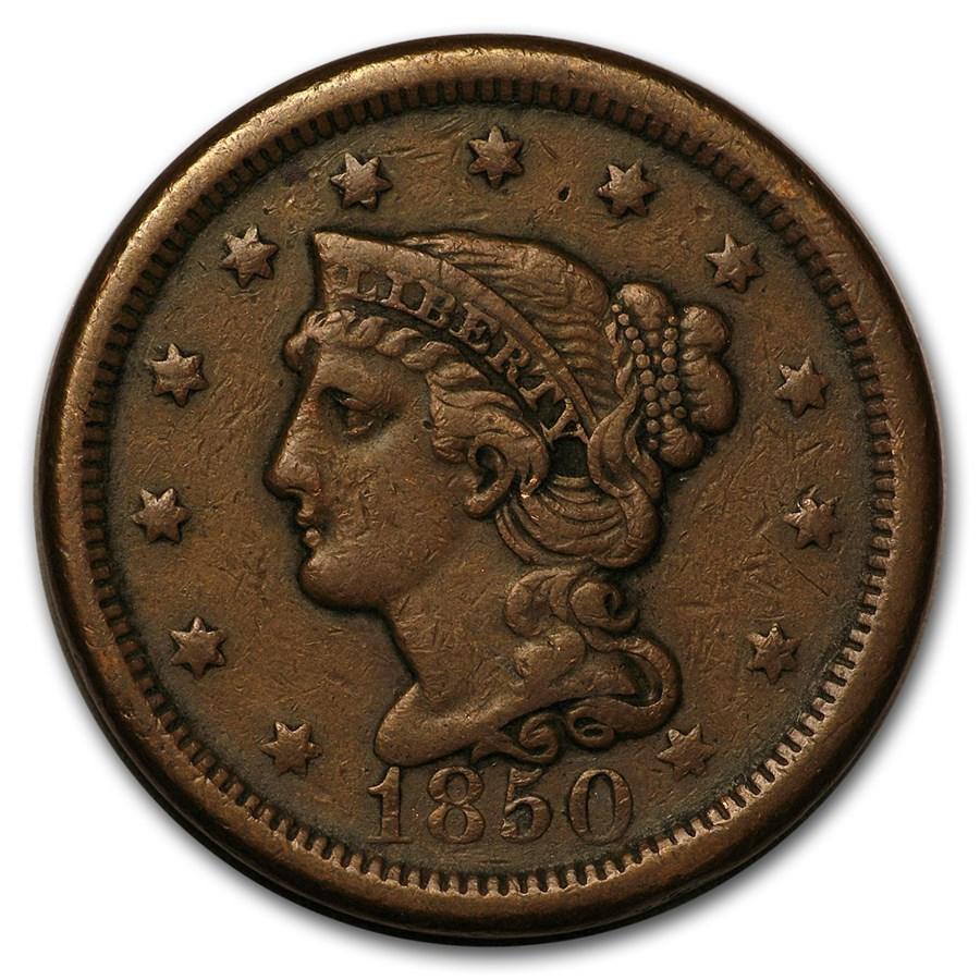 1850 Large Cent VF