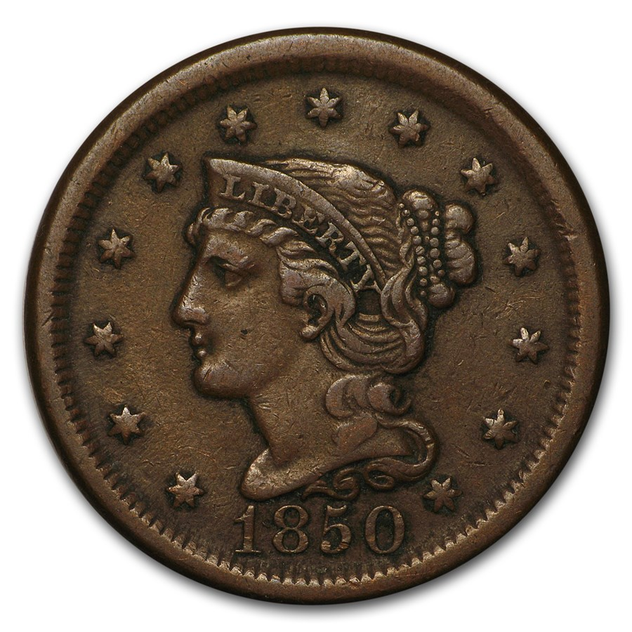 1850 Large Cent XF