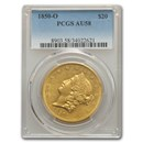 1850-O $20 Liberty Gold Double Eagle AU-58 PCGS