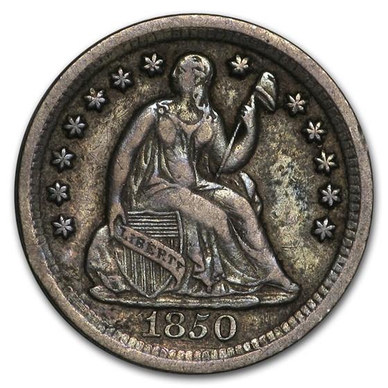 1850-O Liberty Seated Half Dime XF