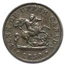 1850 Upper Canada Half Penny Bank Token XF