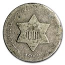 1851-1862 Three Cent Silver Avg Circ