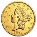 1851 $20 Liberty Gold Double Eagle AU Details (Cleaned)