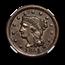 1851 Large Cent AU-55 NGC