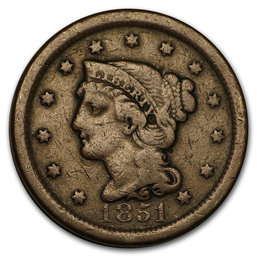 1851 Large Cent Fine