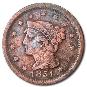 1851 Large Cent Good