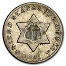 1851-O Three Cent Silver AU