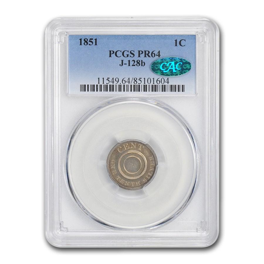 1851 Pattern Cent PCGS PR-64 PCGS CAC (J-128b)