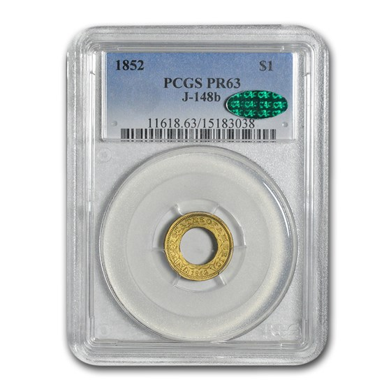 1852 $1 Pattern Gold Dollar PR-63 PCGS CAC (J-148B)