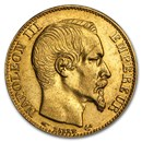 1852-1860 France Gold 20 Francs Napoleon III (AU)