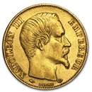 1852-1870 France Gold 20 Francs Napoleon III Avg Circ