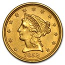 1852 $2.50 Liberty Gold Quarter Eagle AU