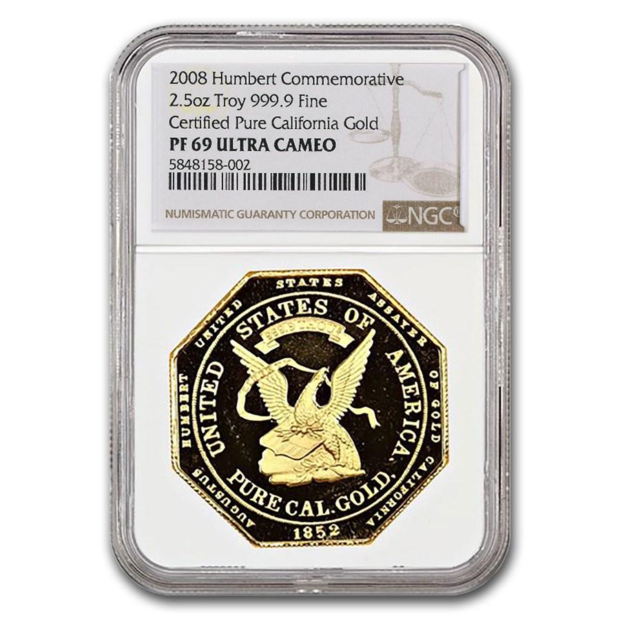 1852 $50 Gold Humbert Commemorative PF-69 NGC (Restrike)