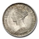 1852 Great Britain Silver Gothic Florin Victoria MS-64+ PCGS