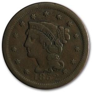 1852 Large Cent Fine