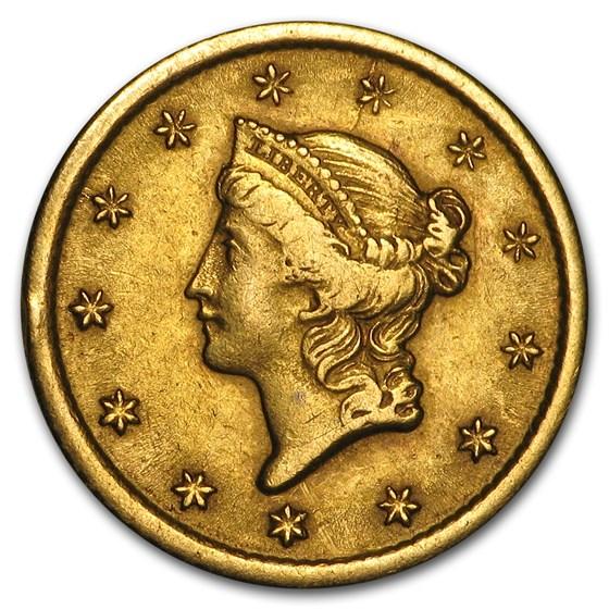 1852-O $1 Liberty Head Gold Dollar XF