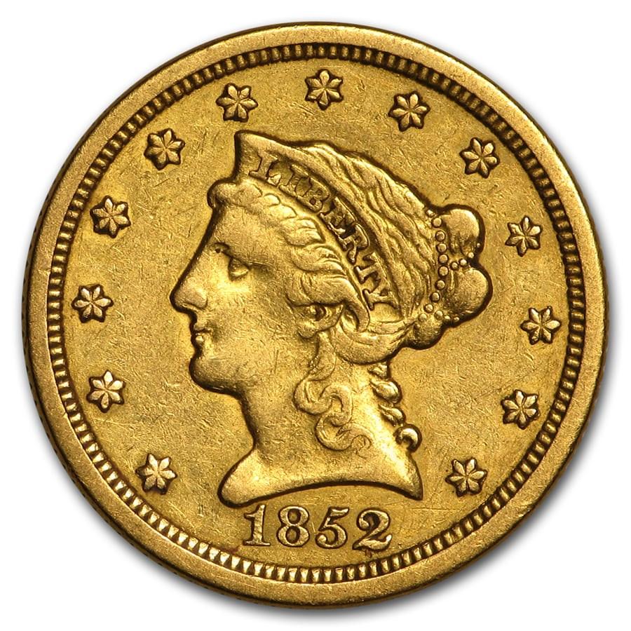 1852-O $2.50 Liberty Gold Quarter Eagle XF
