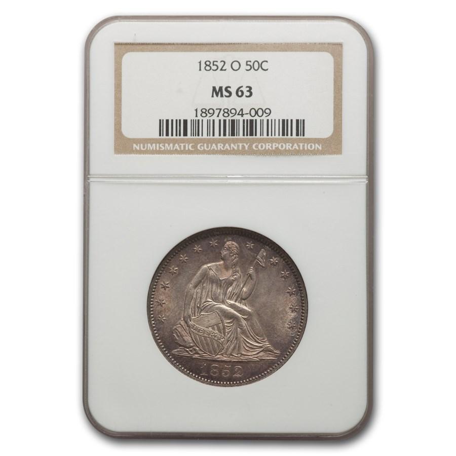 1852-O Liberty Seated Half Dollar MS-63 NGC