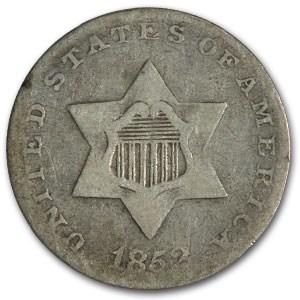 1852 Three Cent Silver Fine