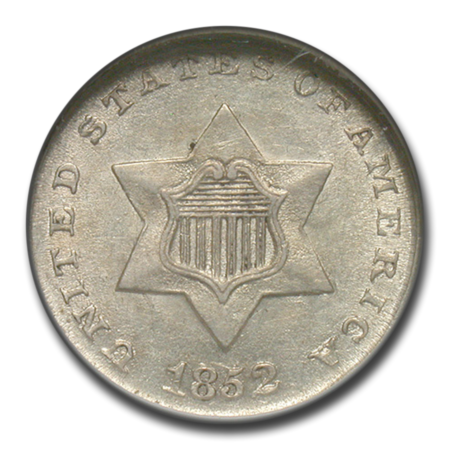 1852 Three Cent Silver MS-61 NGC