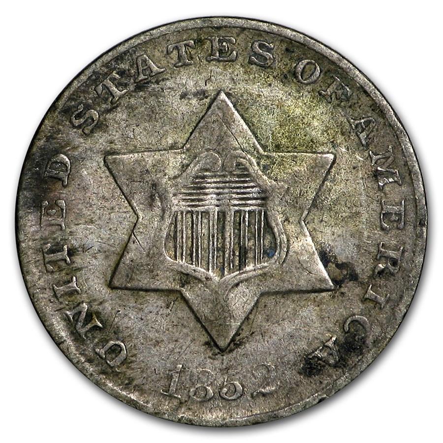 1852 Three Cent Silver VG