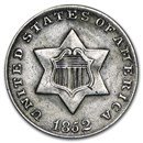 1852 Three Cent Silver XF