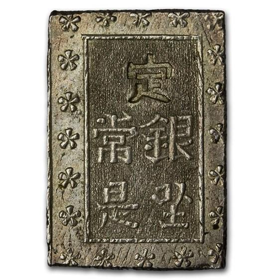 1853-1869 Japan Tokugawa Shogunate Silver Ichibu-Gin (Bu) XF