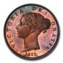 1853 Great Britain CU Half Penny Victoria PR-64+ PCGS (Red/Brown)