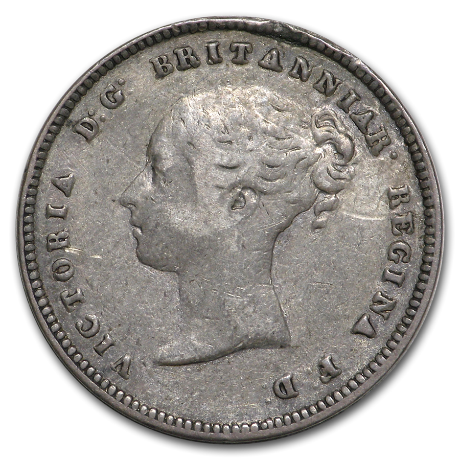 1853 Great Britain Maundy 4 Pence VF (Young Head)