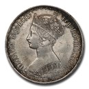 1853 Great Britain Silver Gothic Florin Victoria MS-63 PCGS