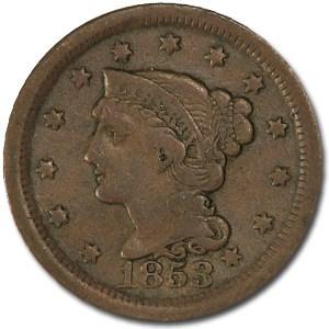 1853 Large Cent Fine